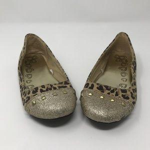 Children Place Leopard Flat Shoes
